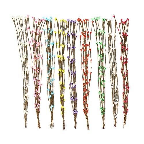 Tong Yue 50pcs 40cm Artificial Ramas Pip de Bayas de Vid Flor estambre Floral Corona de Novia Fiesta Boda DIY Decor
