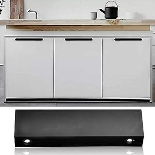 Door Handle, Modern Kitchen Cabinet Furniture Handles Finger Pull Contemporary Metal Edge Pull Door Handle Hardware Door P...