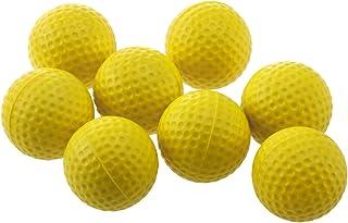 WINOMO 18 st träningsgolfbollar mjuka dimpled elastisk inomhus utomhus träning mjuk skum golfbollar (gul)