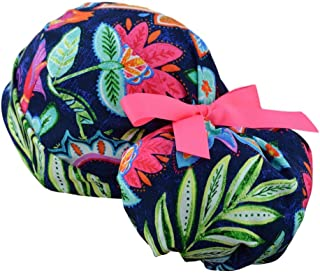 Womens Perfect Fit Ponytail Surgical Scrub Hat Cap - The Hat Cottage - Caribbean