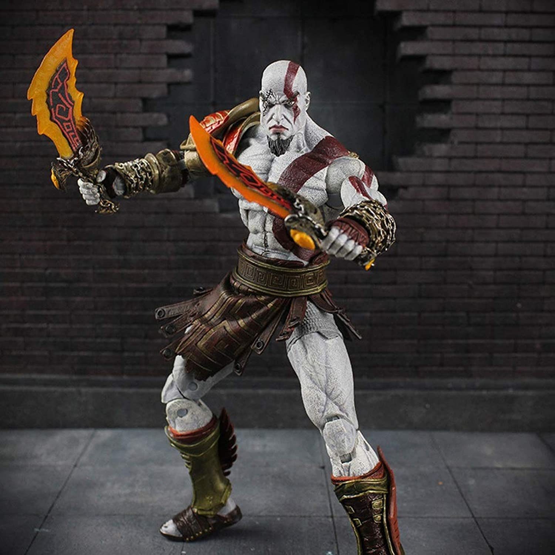 hasta 60% de descuento HNBY Kratos Juguete Statue God of of of War Modelo De Juego Juego Personaje Souvenir   18CM Decoración Souvenir Estatua  nueva gama alta exclusiva