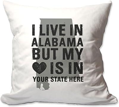 Amazon.com: Customized I Live In Alabama sino por Corazón ...