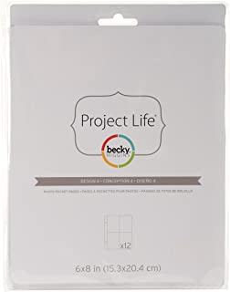 Becky Higgins 97734 Project Life Photo Pocket Page Protector-6 x 8-Design 4 (12 Pieces)