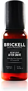 Brickell Men's Instant Relief Aftershave for Men, Natural and Organic Soothing After Shave Balm to Prevent Razor Burn, 2 Ounce, Unscented