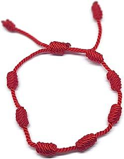 MYSTIC JEWELS by Dalia - Pulsera Kabbalah - cordón 7 Nudos de Hilo Rojo - Unisex - Ajustable - protección de Mal de Ojo, B...