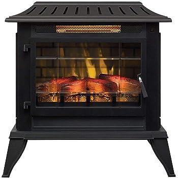 Duraflame Electric CFI-5002-BLK Fireplace Stove Heater, Black