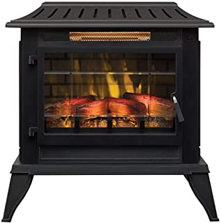 Duraflame Electric CFI-5002-BLK Fireplace Stove Heater, Black