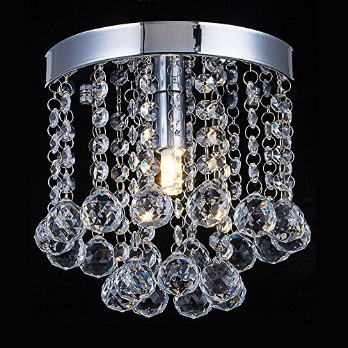 Crystal Chandelier Lighting, Modern Flush Mount Ceiling Light, Rain Drop Pendant Ceiling Lamp for Hallway, Dining Room, Bedroom, Bathroom, Stairwells, Banquet Hall