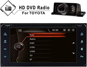 Car Stereo Double Din GPS Radio for Toyota RAV4 Prado Camry Corolla Vios Hilux,6.95'' HD Fully Touch Screen Radio Bluetooth CD DVD Player Mirrior Link USB 16GB SD Map&Steering Wheel Control&Camera
