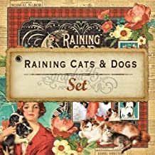 Graphic 45 Raining Cats & Dogs Set of 12 sheets, 12 by 12-Inch