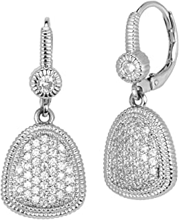 Luxury Box Included Love Trillion Trillion Shaped Earrings - Premium Quality