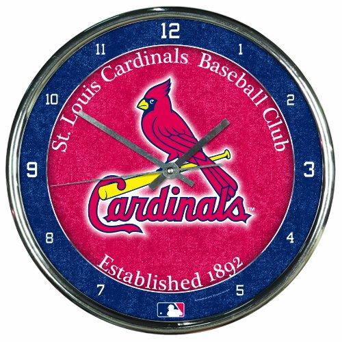 MLB St. Louis Cardinals Chrome Clock, 12