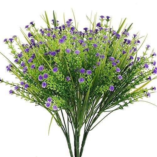 NAHUAA 4 pcs Flores Artificiales Ramo de Flor Gypsophila Artificial para el Hogar Mesa Cocina Oficina Jardín Decoración de la Boda