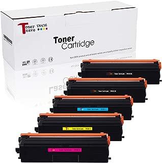 Tonersave 5PK Compatible Brother TN436 TN-436 Toner for Brother MFC-L8900CDW Brother HL-L8360CDW HL-L8360CDWT HL-L9310CDW MFC-L9570CDW TN436BK TN433C TN431Y