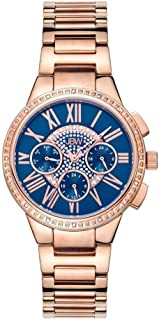 JBW Rose Gold Stainless Blue dial Watch for Women J6328B