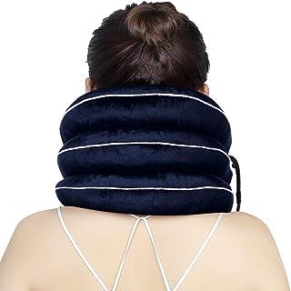 Cervical Neck Traction Device Opblaasbare Halsband Cervical Collar Neck Support ter verlichting van nekpijn (blauw)