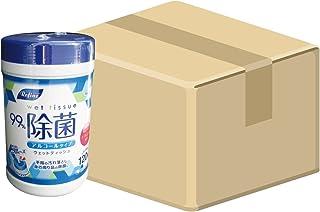 (ケース販売) 日本製 リファイン アルコール除菌 ウェットボトル 120枚入×24個(計2880枚) LD-102