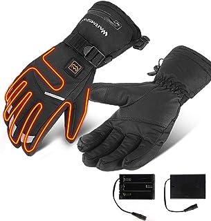 Unisexe Heated Gants Chauffants /Écran Tactile USB Rechargeable pour Le Cyclisme Randonn/ée Moto Ski Lalpinisme