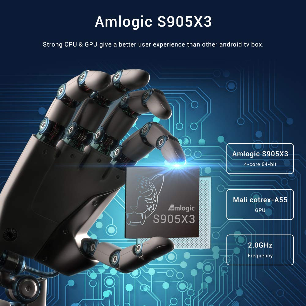 Android 9.0 TV Box,A95X F3 Air Smart TV Box con Amlogic S905X3 ...