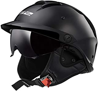 LS2 Helmets Rebellion Motorcycle Half Helmet (Matte Black – Medium)