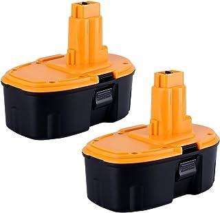 Biswaye 2Pack 18V High Capacity 3000mAh Replacement Battery for 18-Volt Dewalt Battery DC9096 DE9039 DE9095 DE9096 DE9098 DW9095 DW9096 DW9098 DE9503