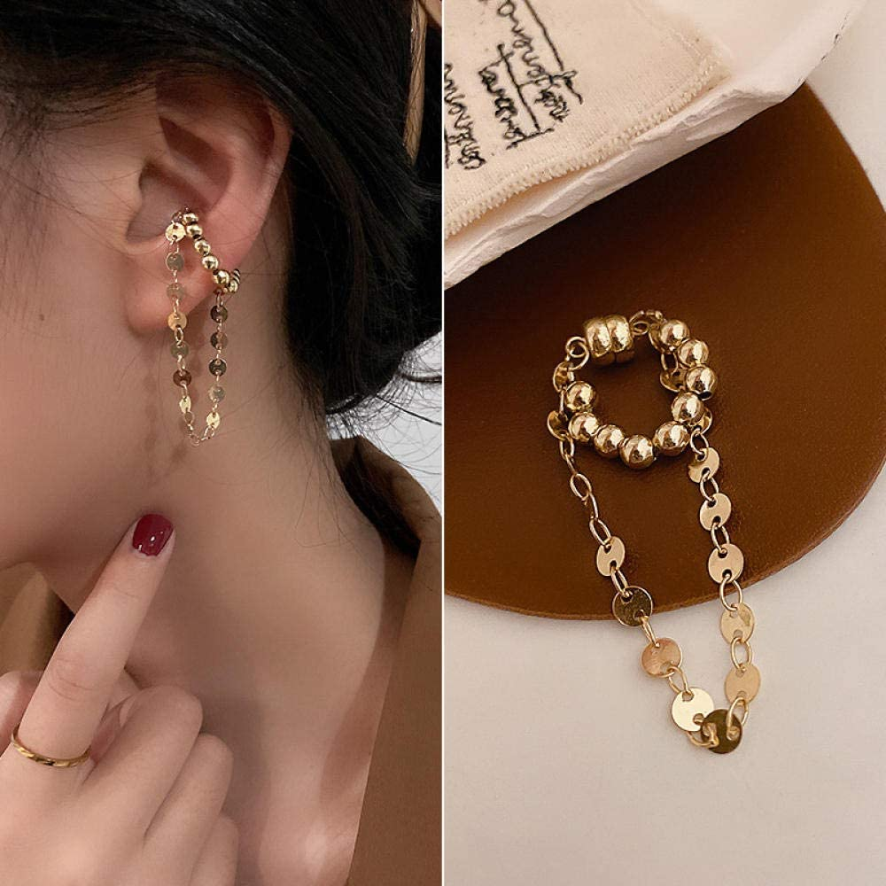 Real Gold Plating South Opening large release sale Now on sale Korea Dongdaemun Ear ferromagnetic Pearl