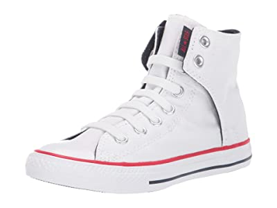 Converse Kids SINGLE SHOE Chuck Taylor(r) All Star(r) Easy Slip (Little Kid/Big Kid) (White/Navy/Red) Kids Shoes