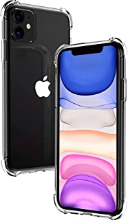 Migeec Compatible with iPhone 11 Case - Clear Soft TPU Bumper [Shock-Absorbing] Full Protection Phone Case for iPhone 11, ...