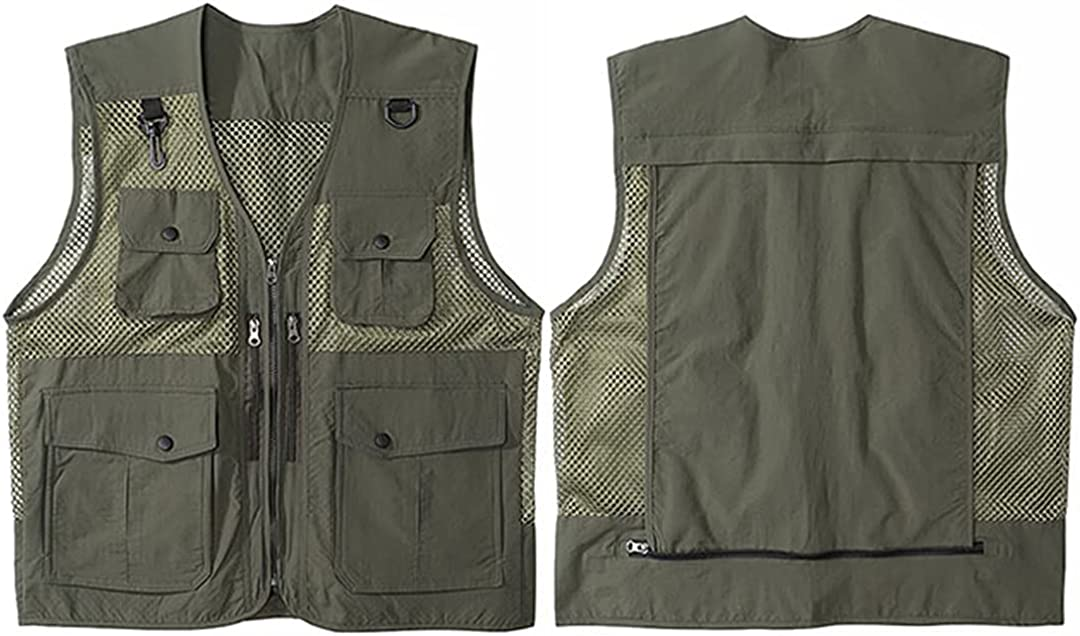 Men's Hip-Hop Sleeveless Jacket Jacket Military Tactical Tooling Vest