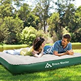 Brace Master Luftmatratze Camping,Doppel Luftbett mit Kissen,Aufblasbare Gästebett für 2 Personen,Aufbewahrungstasche Enthalten,203 x 152 x 28 cm, Grün - 4