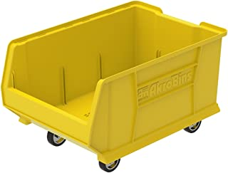 $57 » Akro-Mils 30288 Mobile Super Size Plastic Stacking Storage Akro Bin, 24-Inch x 16-Inch x 11-Inch, Yellow