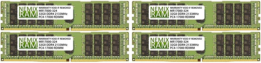 Equivalent to OEM PN # 4X70G88311 32GB PC4-17000 DDR4-2133Mhz 2Rx4 1.2v ECC Registered RDIMM Brute Networks 4X70G88311-BN