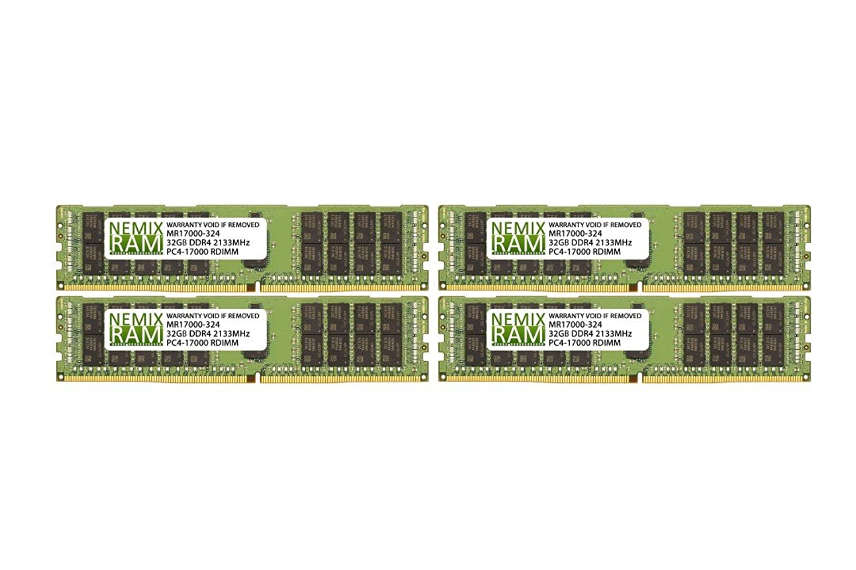 128GB (4x32GB) DDR4-2133MHz PC4-17000 ECC RDIMM 2Rx4 1.2V Registered Memory for Server/Workstation