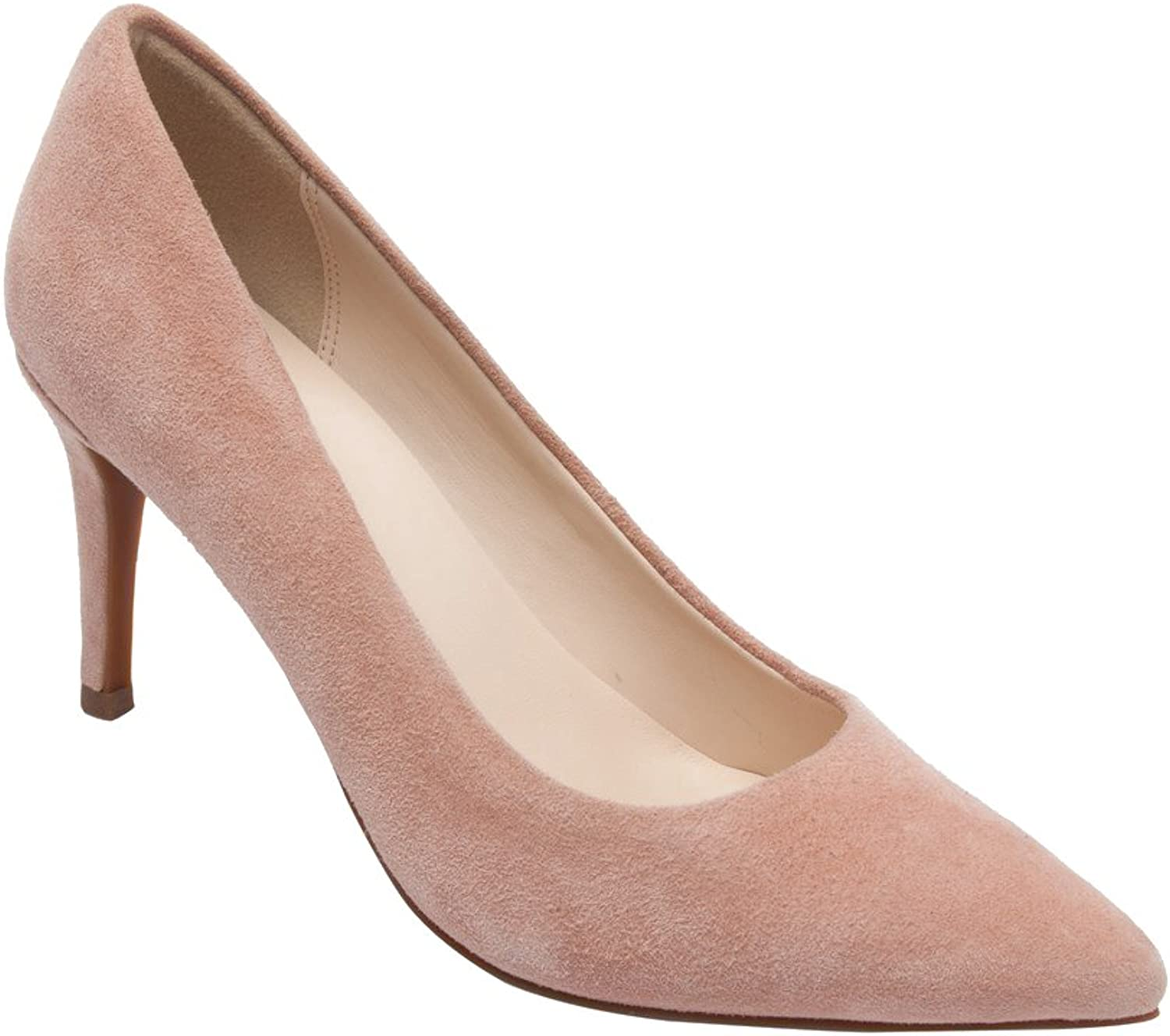 PIC PAY Lucia - Women's Pointy Toe Pumps - Elegant Suede Leather Stiletto High Heel shoes bluesh Suede 8.5M
