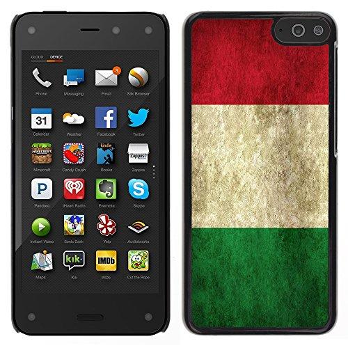 Graphic4You Bandera Italiana de Italia Grunge Vintage Carcasa Funda Rigida para Amazon Fire Phone