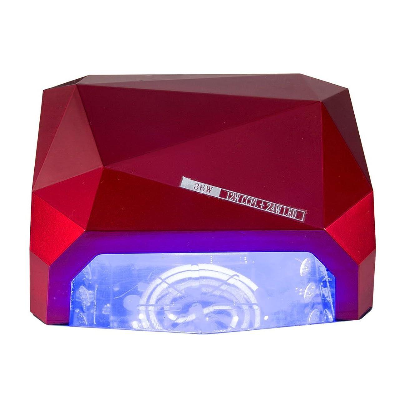 長方形顧問レオナルドダネイル光線療法機 ネイルドライヤー - 36Wネイルランプセンサーダイヤモンドネイルランプと磁気フロアランプ処理ランプLEDダイヤモンド光線治療装置ネイルランプ