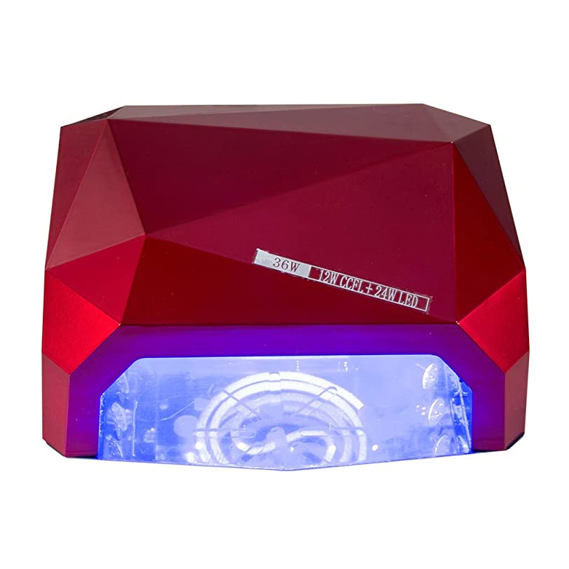 ステッチ鳥透けるネイル光線療法機 ネイルドライヤー - 36Wネイルランプセンサーダイヤモンドネイルランプと磁気フロアランプ処理ランプLEDダイヤモンド光線治療装置ネイルランプ
