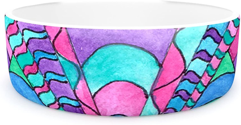 Kess InHouse Rosie Brown Gatsby Inspired  Pet Bowl, 7Inch, bluee Pink