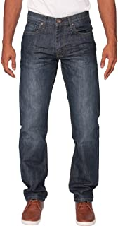 ENZO Mens Regular Fit Straight Fit Denim Blue Jeans Pants All Waist Leg Sizes