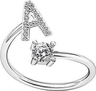 Rings for Women Alphabet Rings Copper Opening Adjustable...