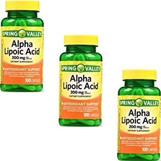 Spring Valley - Alpha Lipoic Acid 200 mg, 100 Capsules by Spring Valley (3 Pack)