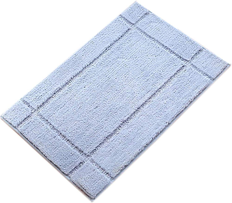 Door mat,Entrance Door mats Bathroom Non Slip Door mat Carpet Door mat Area Rug Waterproof Rug Floor mat- Light blueeA 50x80cm(20x31inch)