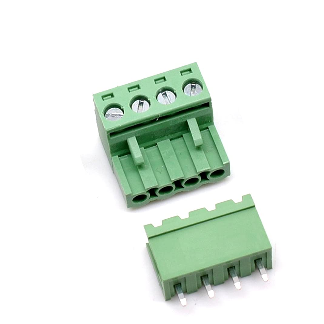 Willwin 10 Set 4-Pin 5.08mm Pitch Male Female PCB Screw Terminal Block
