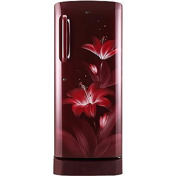 LG 235 L 4 Star Inverter Direct Cool Single Door Refrigerator (GL-D241ARGY, Ruby Glow)