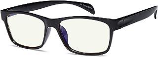 عینک مسدود کننده نور گاما ری آبی Amber Tint Anti Glare UV Digital Eyestrain