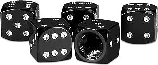 kwmobile 5X Valve Cap - Metal Tire Valve Dust Caps for Car, Bike, Motorcycle - Set of 5 Tire Stem Car Wheel Dustproof Cap