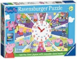 Ravensburger 9510 Tell The Time Clock Peppa Wutz Puzzle, Mehrfarbig