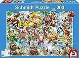 Schmidt Spiele- Puzle Infantil (200 Piezas), diseño de Selfies (56294)