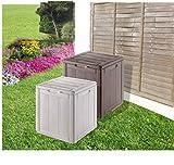 Amazing resistente al agua al aire libre jardín caja de almacenaje–gris...