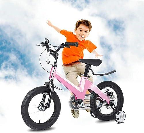 Venta barata Q&J Aleación de de de magnesio. Bicicleta para Niños de Altura Ajustable. Equipada con un Asiento ergonómico, Mangos de Seguridad, Ruedas silenciosas y Pintura en Polvo Resistente a los Golpes.  Felices compras